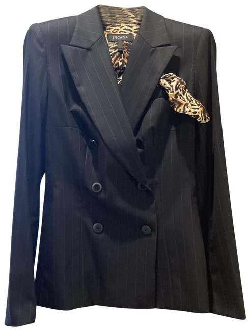 Item - Black and Gold/ Brown Stripes No Skirt Suit Size 10 (M)