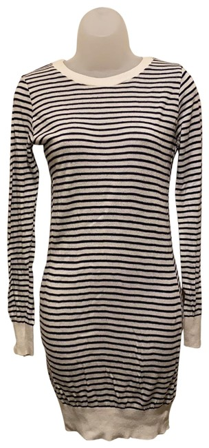 Item - Navy/White Striped Sweater Short Casual Maxi Dress Size 2 (XS)