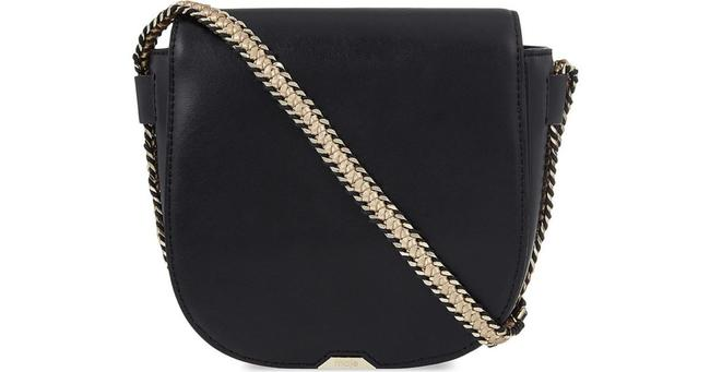 Maje Sharon Black Gold Leather Cross Body Bag Maje Sharon Black Gold Leather Cross Body Bag Image 1