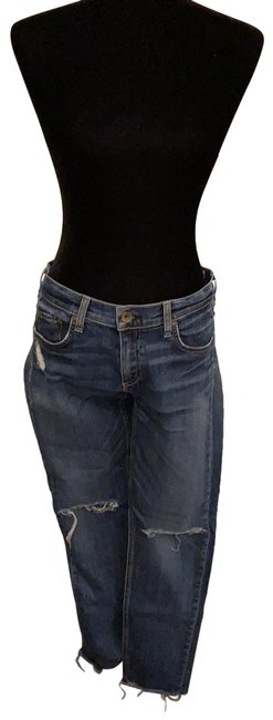 Item - Blue Distressed Skinny Jeans Size 6 (S, 28)