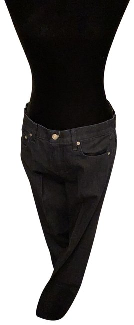 Item - Blue Dark Rinse Boot Cut Jeans Size 6 (S, 28)