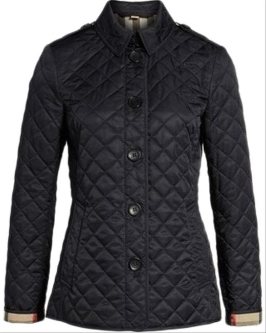 Burberry Black Ashurst Quilted Check Coat Jacket Size 4 (S) Burberry Black Ashurst Quilted Check Coat Jacket Size 4 (S) Image 2