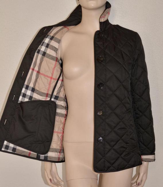 Burberry Black Ashurst Quilted Check Coat Jacket Size 4 (S) Burberry Black Ashurst Quilted Check Coat Jacket Size 4 (S) Image 5