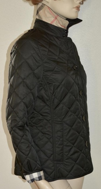 Burberry Black Ashurst Quilted Check Coat Jacket Size 4 (S) Burberry Black Ashurst Quilted Check Coat Jacket Size 4 (S) Image 6