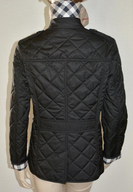Burberry Black Ashurst Quilted Check Coat Jacket Size 4 (S) Burberry Black Ashurst Quilted Check Coat Jacket Size 4 (S) Image 8