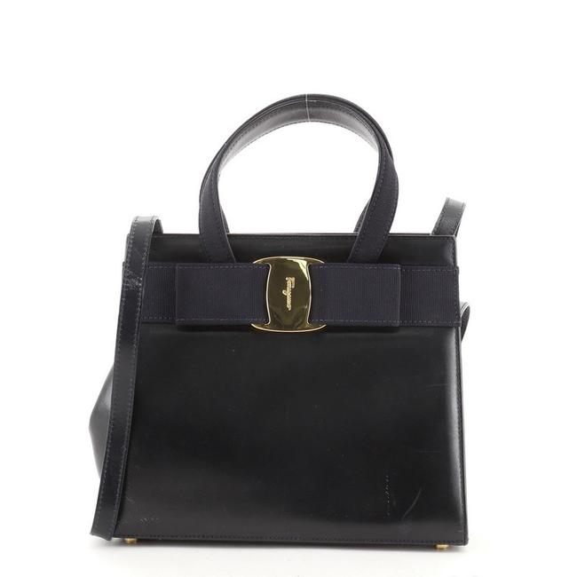 Item - Convertible Vara Small Blue Leather Tote