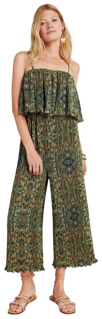 Item - Green New Suzanne Pleated Romper/Jumpsuit