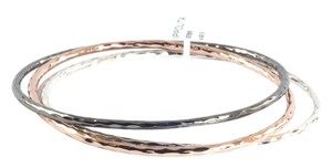 Ippolita IPPOLITA STERLING SILVER ROSE & BLACK STERLING SILVER BANGLE TRIO SET