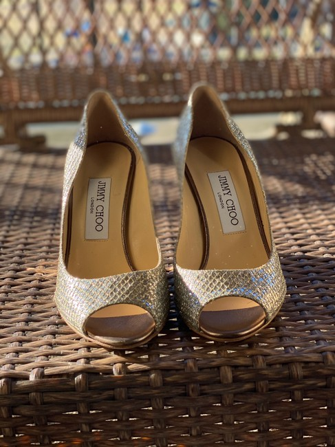 Item - Silver Baxen Glitter Wedges Size US 6.5 Narrow (Aa, N)