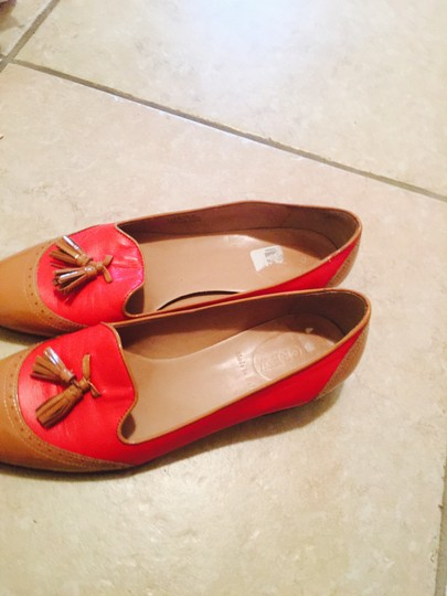 J.Crew Red and down Mules