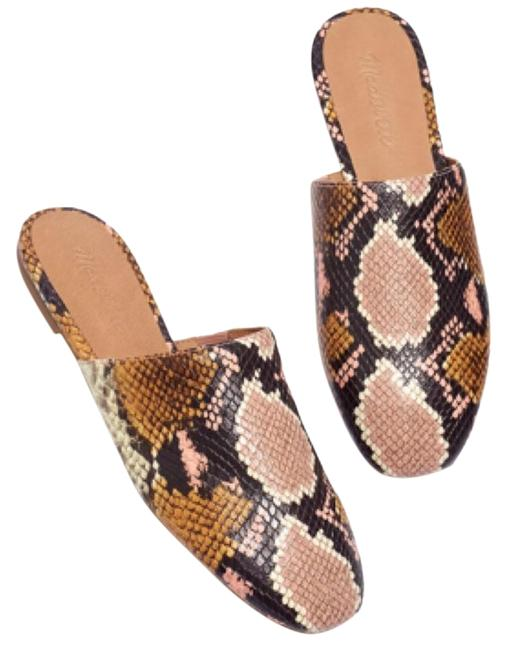 Item - Multi-color The Cory Snake Embossed Leather Mules/Slides Size US 6.5 Regular (M, B)