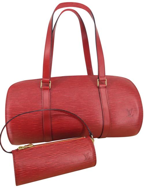 Item - Papillon 30 with Pouch Red Epi Leather Baguette