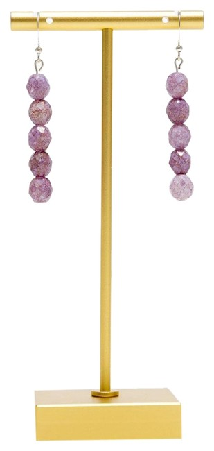 Item - Light Purple Minimalist Faceted Acrylic Bead Drop Earrings