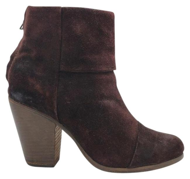 Item - Burgundy Newbury Classic Suede Ankle Boots/Booties Size US 6.5 Regular (M, B)
