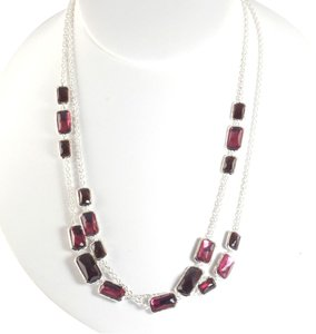 Ippolita Ippolita Silver Red Long Necklace Sterling Harlow Wonderland Station Chain 37
