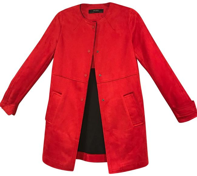 Item - Red Faux Suede Coat Size 4 (S)