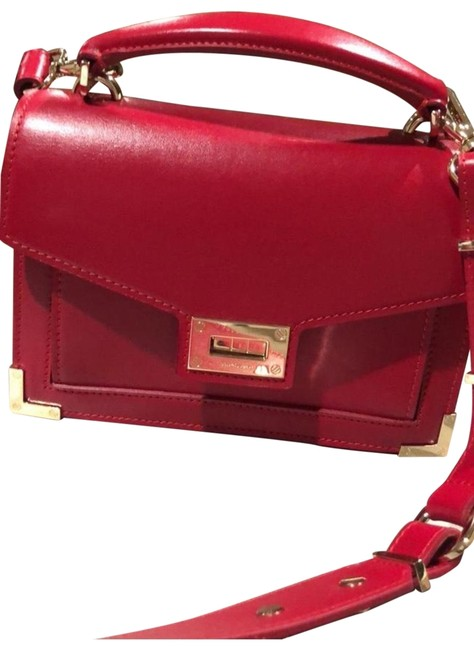 Item - Emily Small Burgundy/Red Leather Satchel
