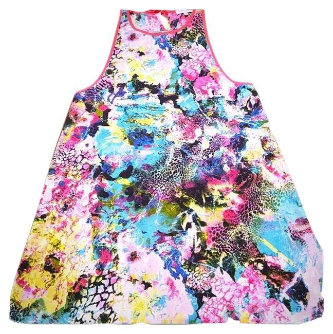 Item - Pink Watercolor Printed Mid-length Night Out Dress Size 6 (S)