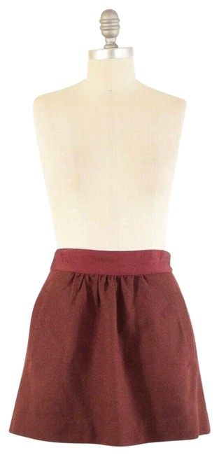Item - Red Tweed Skirt Size 4 (S, 27)
