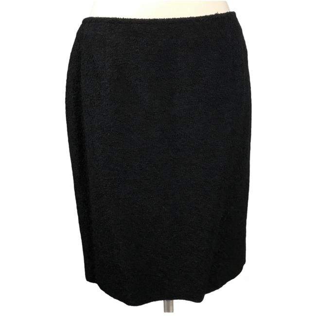 Item - Black Wool Pencil Italy Lined Career 46 Large Nwot Skirt Size 10 (M, 31)