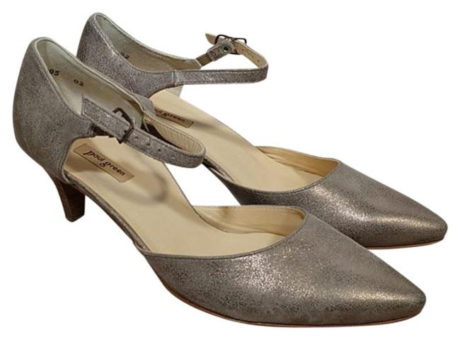 Item - Silver Cream Hailey Pointy Toe Ankle Strap Pumps Size US 9.5 Regular (M, B)
