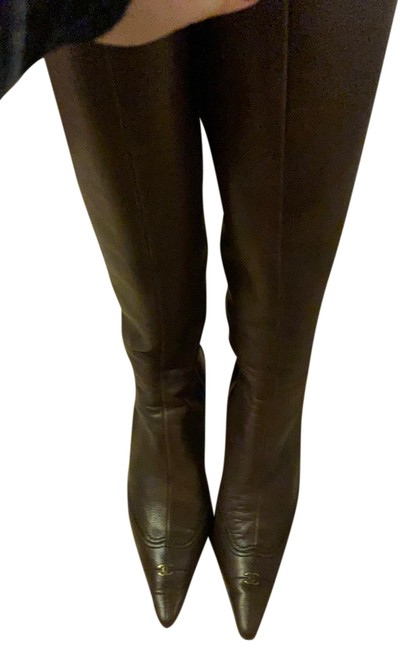 Item - Brown Tall Leather Boots/Booties Size US 6 Regular (M, B)