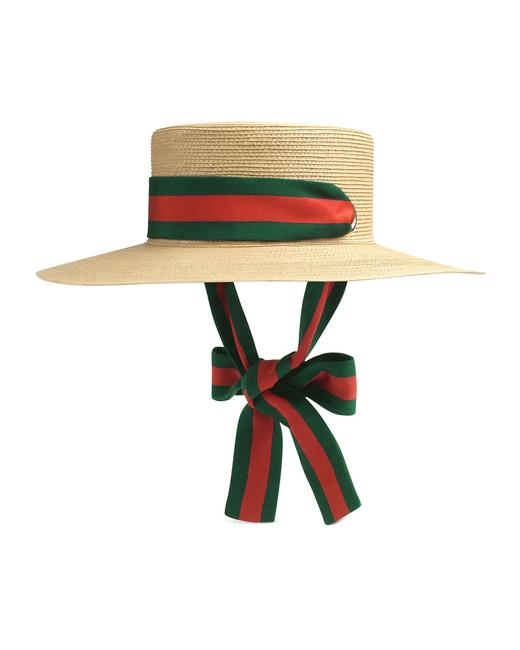 Item - Neutral Green Red - Papier Wide Brimmed - Size Large Hat