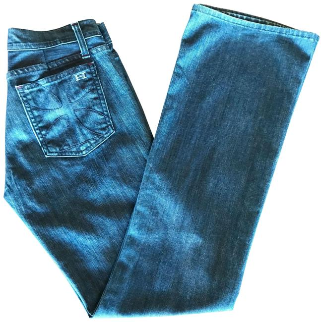 Item - Blue Dark Rinse Wash Straight Leg Jeans Size 28 (4, S)
