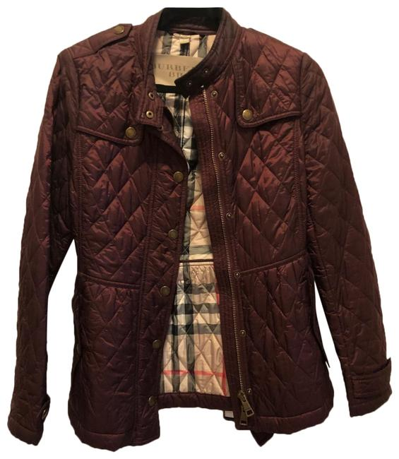 Item - Burgundy Quilted Jacket Size 4 (S)
