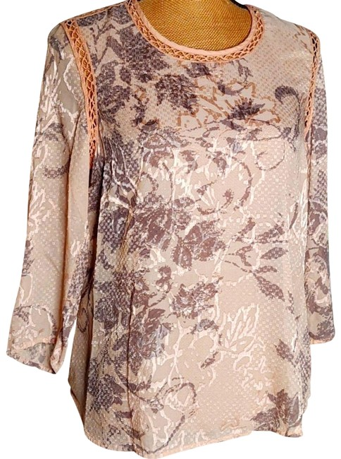 Item - Beige Anthropologie Sheer Blouse Size 8 (M)