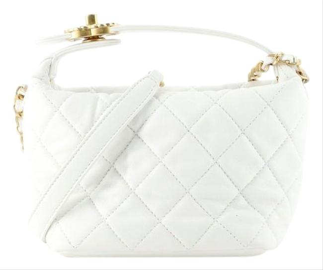 Item - Perfect Meeting Quilted Lambskin Small White Leather Hobo Bag