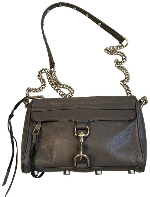 Item - Gray Leather Cross Body Bag