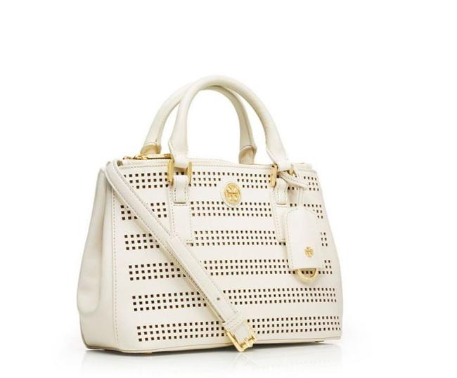 Item - Robinson New Perforated Double Zip Saffiano Leather Tote