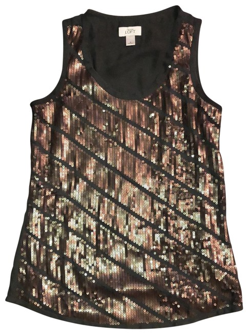 Item - Sequined Front Gray and Copper Top
