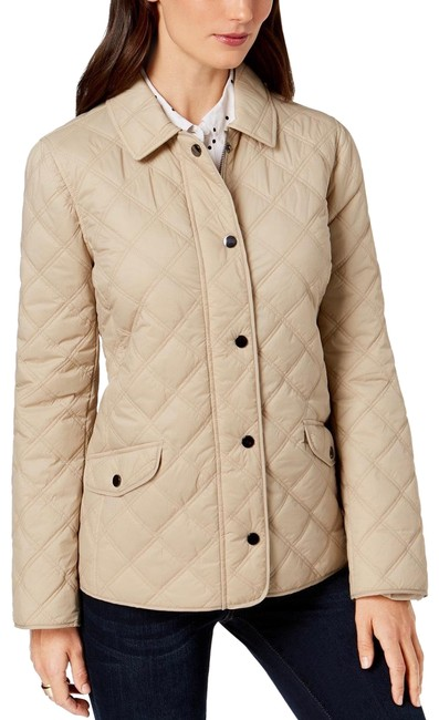 Charter Club Beige Quilted Women Jacket Size 22 (Plus 2x) Charter Club Beige Quilted Women Jacket Size 22 (Plus 2x) Image 1