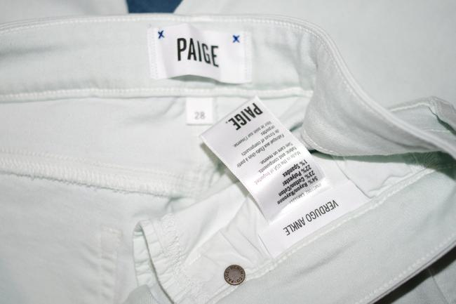 Paige Mojito Mint Light Wash Vertugo Ankle Rayon Cotto Polyester Pants Jeggings Size 28 (4, S) Paige Mojito Mint Light Wash Vertugo Ankle Rayon Cotto Polyester Pants Jeggings Size 28 (4, S) Image 2