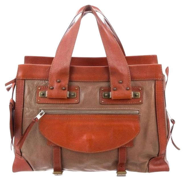 Item - Leather Tracy Tote Taupe Multi Tonal Hardware Satchel