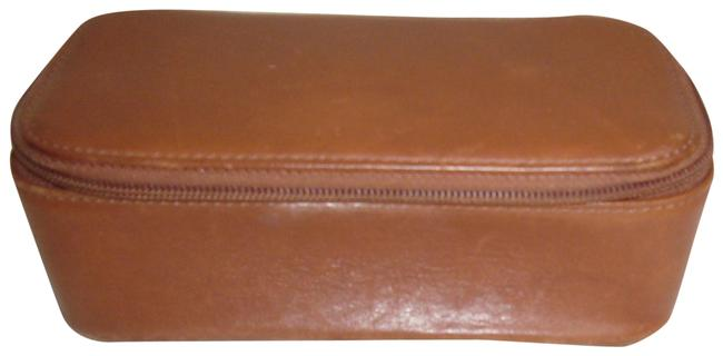 Item - Tan Small Structured Cosmetic Bag