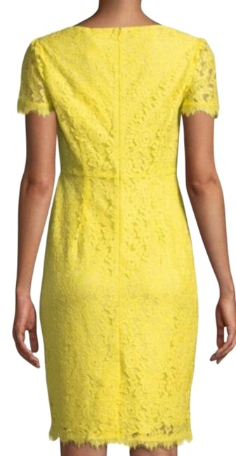 Item - Yellow Ainsley Lace In Lemon Short Casual Dress Size 4 (S)