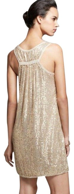 Item - Gold Pellina Sequined Tank Short Casual Dress Size 6 (S)