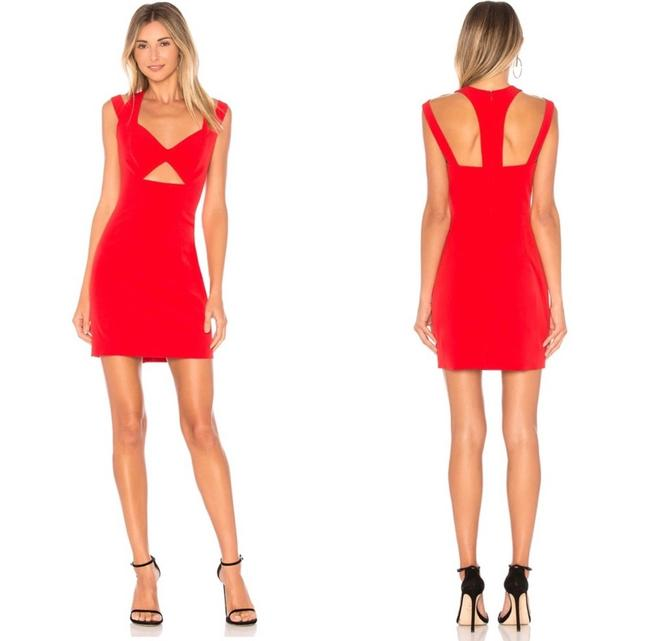 Item - Red Cut Mini In Short Night Out Dress Size 4 (S)