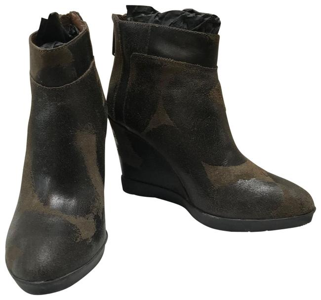 Item - Olive Green Brown Chez-81. Vintage Suede. Boots/Booties Size US 7.5 Regular (M, B)