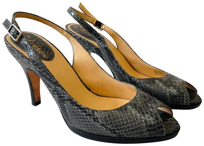 Cole Haan Gray Black X Nike Air Snakeskin Slingback Heels Pumps Size US 7.5 Regular (M, B) Cole Haan Gray Black X Nike Air Snakeskin Slingback Heels Pumps Size US 7.5 Regular (M, B) Image 1