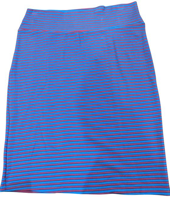 Item - Blue and Pink Stripe Cassie Skirt Size 26 (Plus 3x)