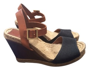 Tory Burch Black & Brown Wedges
