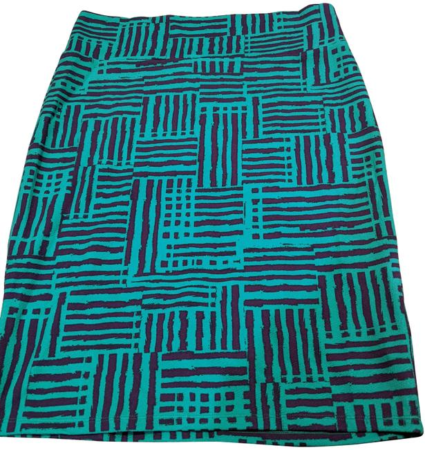 Item - Green and Purple Cassie Skirt Size 16 (XL, Plus 0x)
