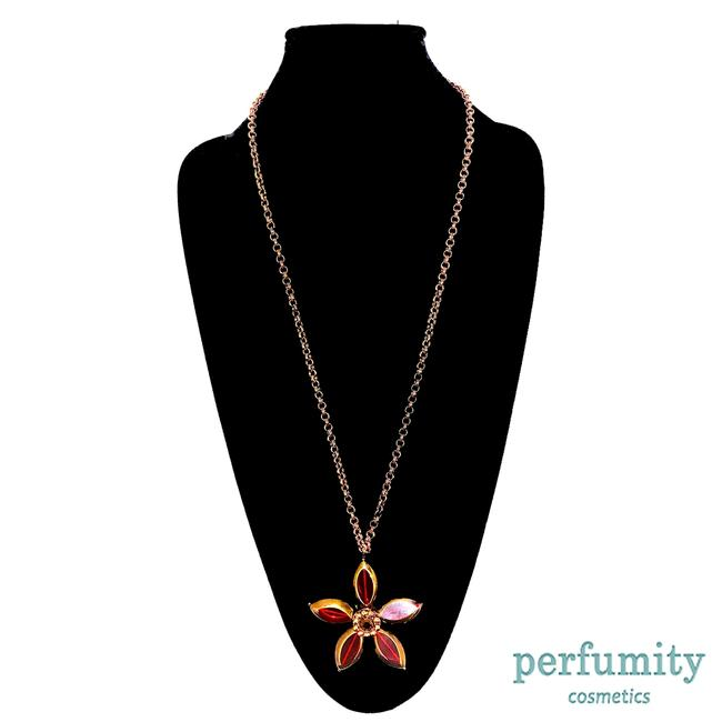 Item - Red and Gold New York Classic Long Pendant Flower New Necklace