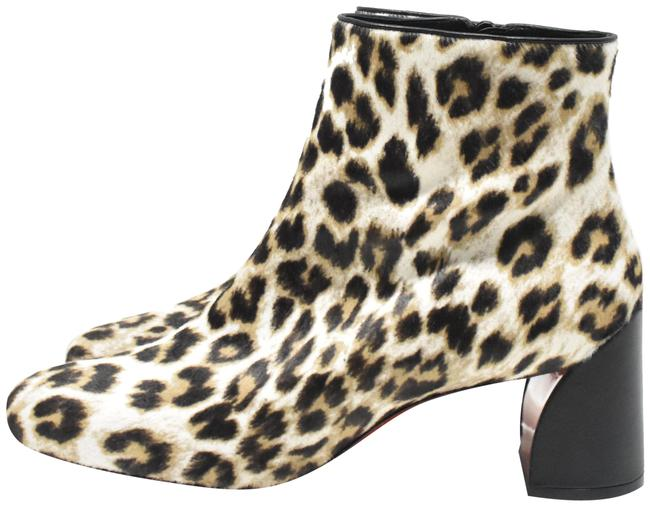 Item - Snow Leopard Turela Dyed Calf Hair Printed Ankle Boots/Booties Size EU 40 (Approx. US 10) Regular (M, B)
