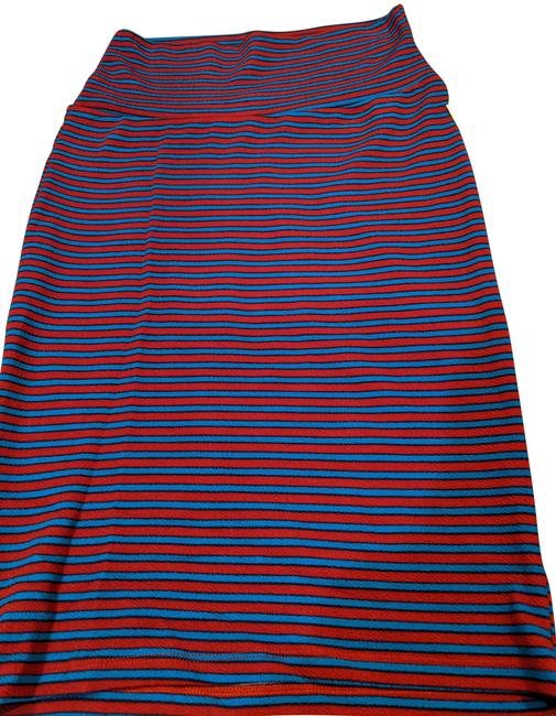 Item - Blue and Pink Stripe Cassie Skirt Size 0 (XS, 25)