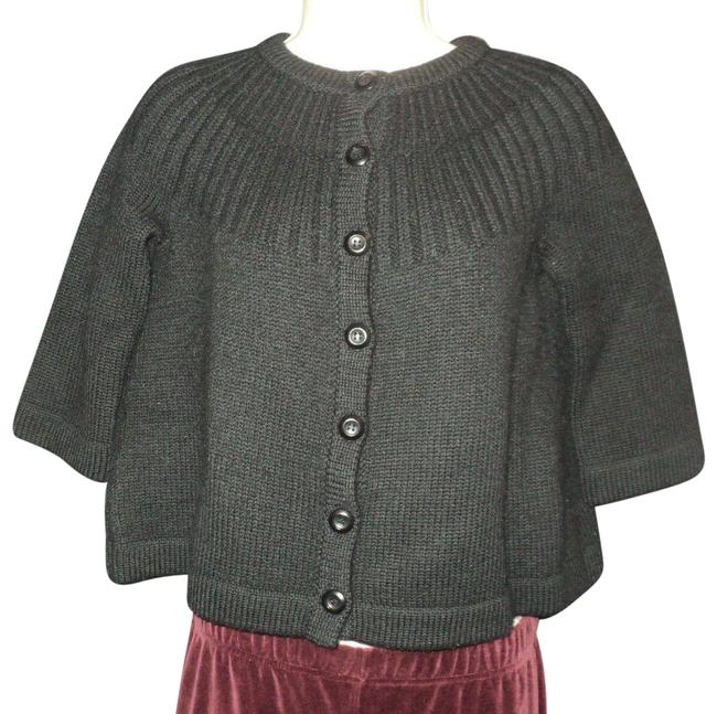 Item - Swing 3/4 Sleeves Front Buttoned Black Sweater